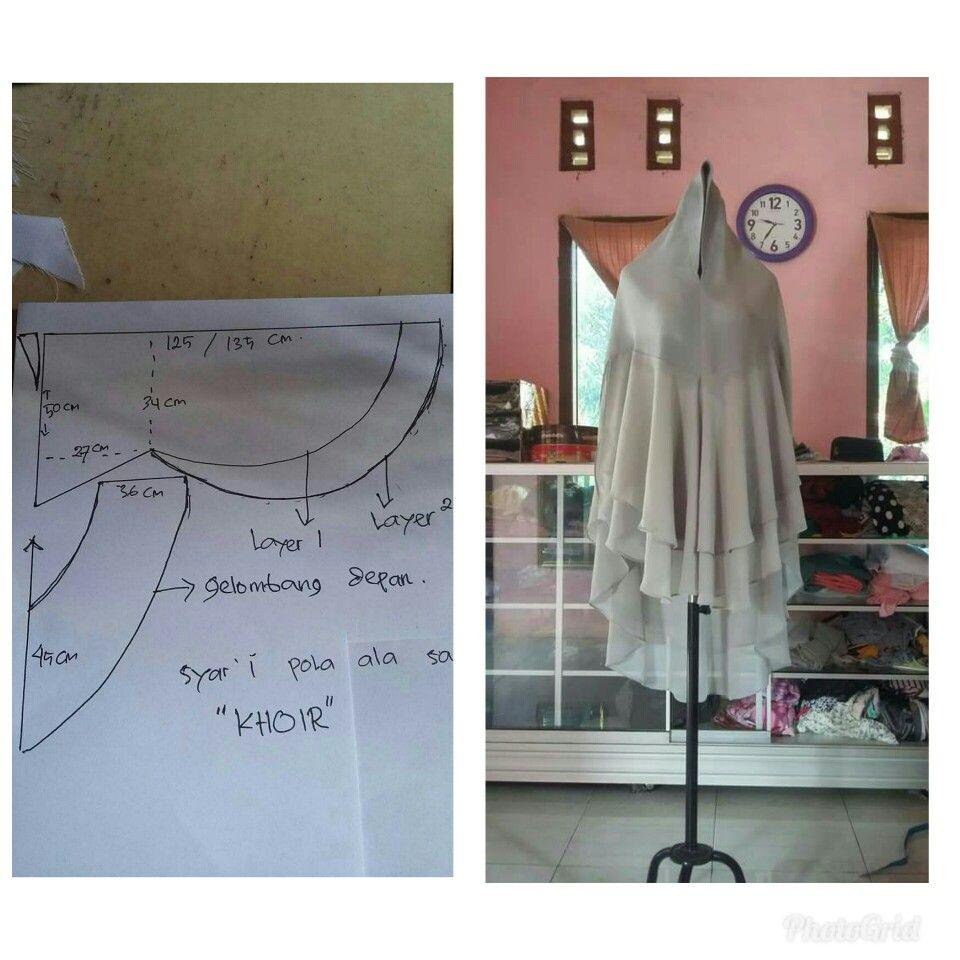 jilbb tingkat  Kursus hijab, Model pakaian hijab, Gaya hijab