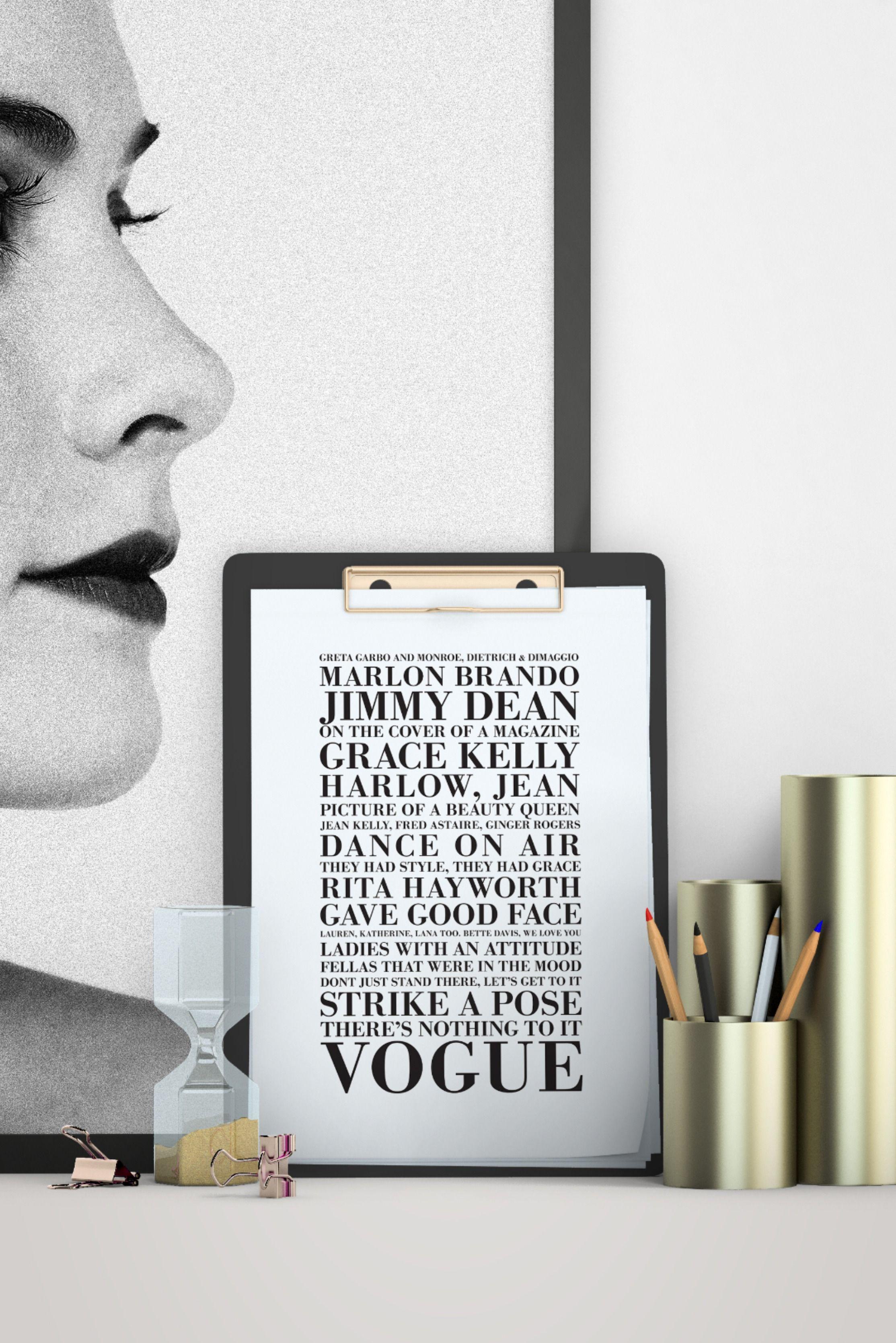 Vogue Lyrics, Madonna   Digital files, Madonna, Digital