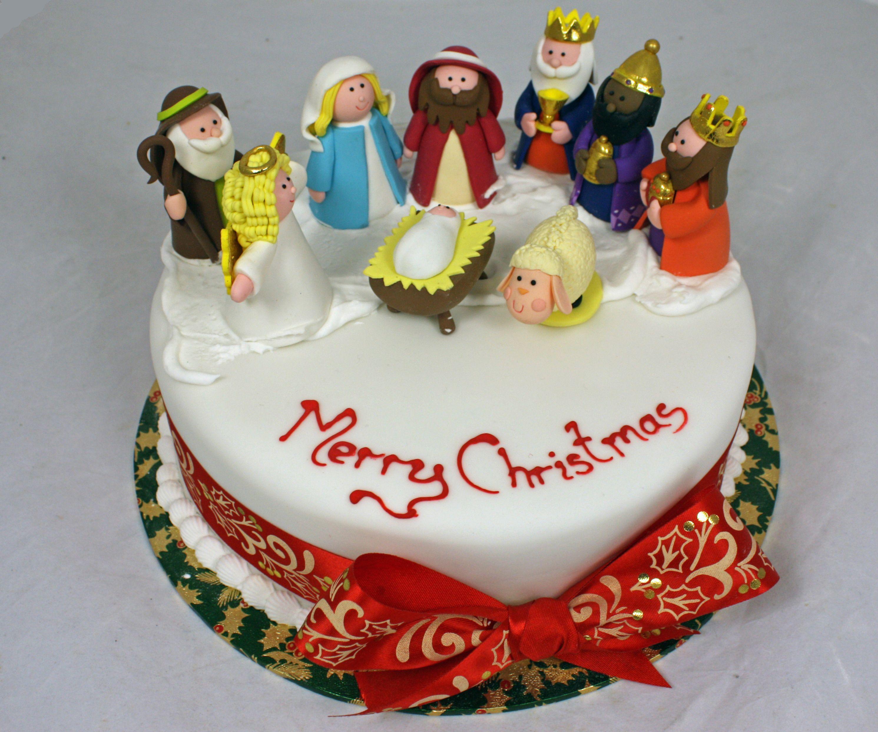 christmas-cake-velvet (2982×2485) | christmas decoration