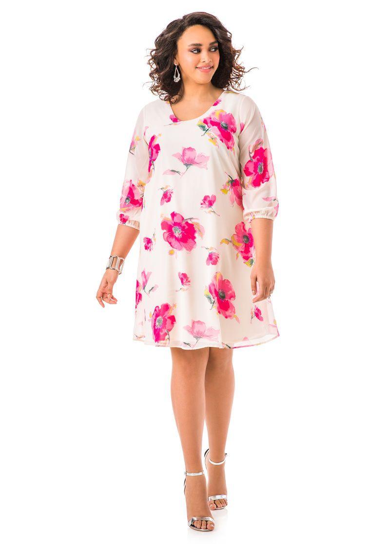 Floral print tie back dress ashley stewart phat phashion