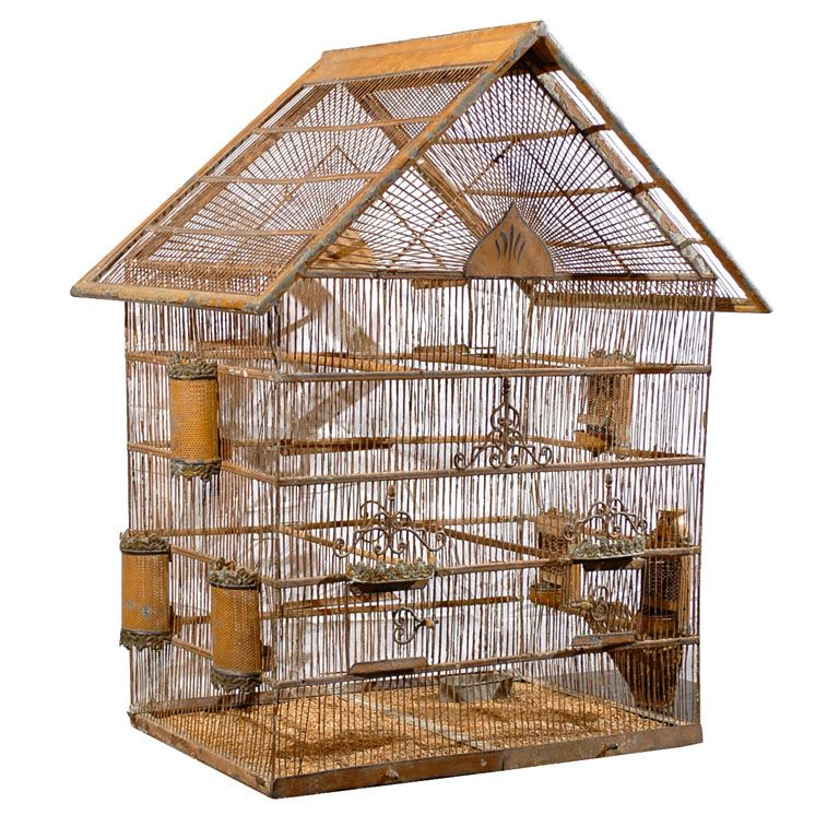 C1890 country French bird cage Birdcages Pinterest 19th