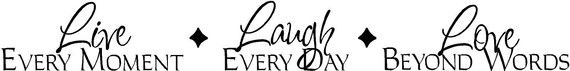 Live Laugh Love Quote Vinyl Decal by onoroffthewall on Etsy, $10.00