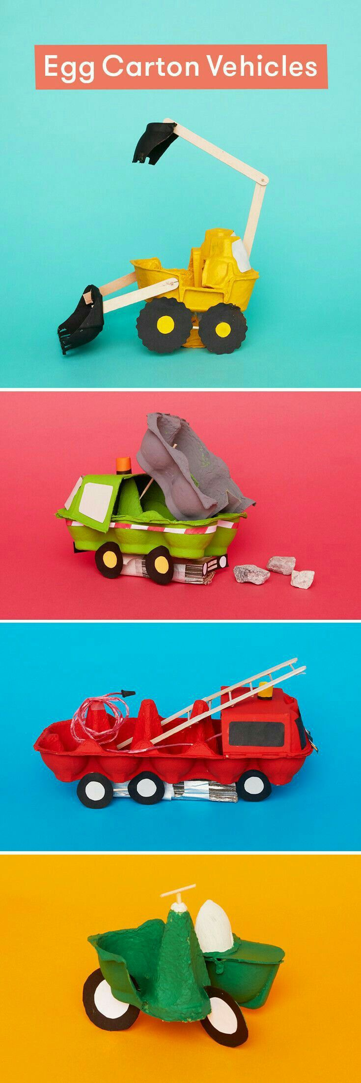 fabriquer des véhicules en carton d'oeufs