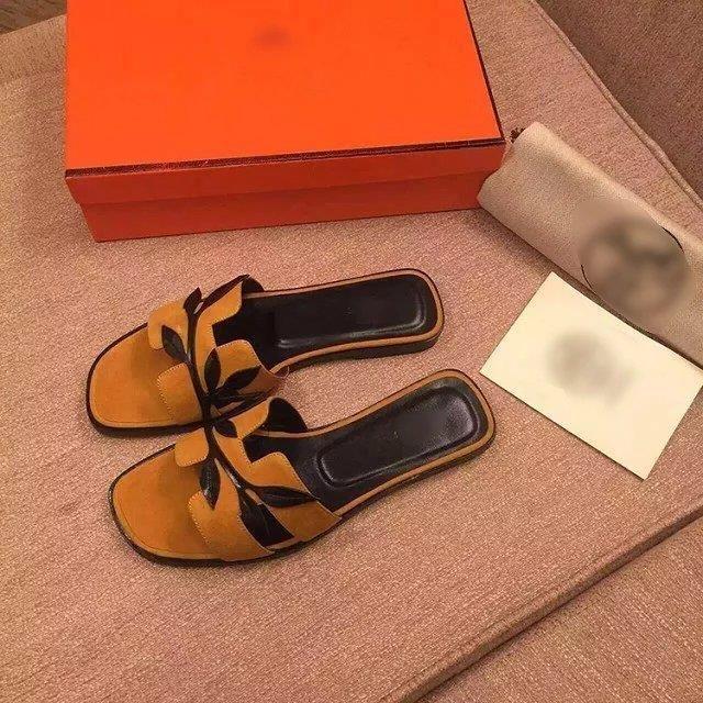 cb90a858788 Hermes Summer fashion women shoes genuine leather sandals flip flops beach  slippers  HERSLP-054