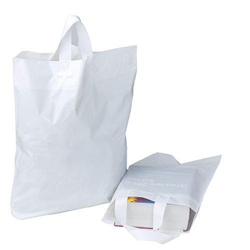 Softloop Handle Bags Durable Reusable And Recyclable Order Today Plasticbag Reusable Retailsupply Mer Custom Bags Plastic Shopping Bags Retail Supplies