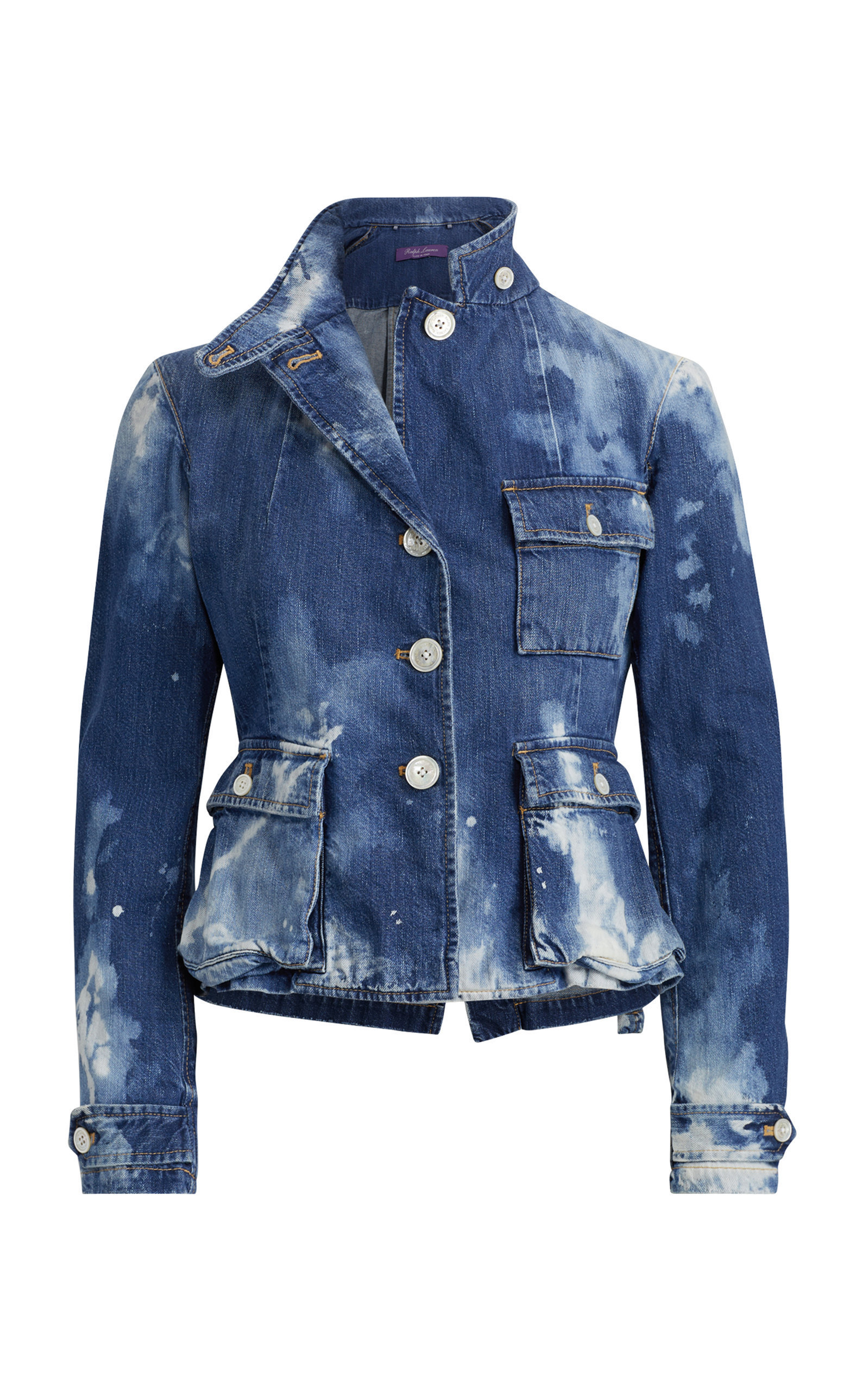 Jeans Raccourcis Pour Femme. Isabele Denim Safari Jacket by RALPH LAUREN  Now Available on Moda Operandi Couture, Mode, f1771bfee749