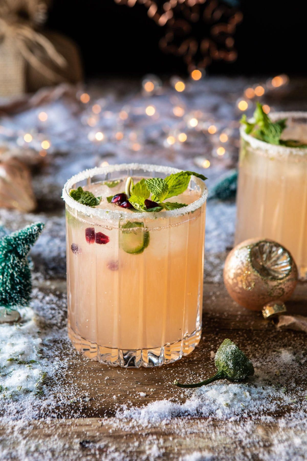Half Baked Harvest has so many genius cocktail recipes, and this Grinch-y drink is fantastically warming and refreshing all at the same time. halfbakedharvest.com #thegrinch #christmasdrinksaturday #vodka #cocktailrecipes