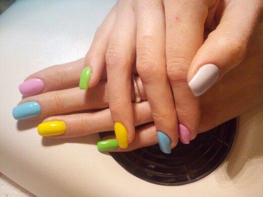 #bunt#oster nägel#pastel farben#nails#nail#