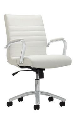 Reale Modern Comfort Series Winsley Mid Back Bonded Leather Chair White By Office Depot Officemax