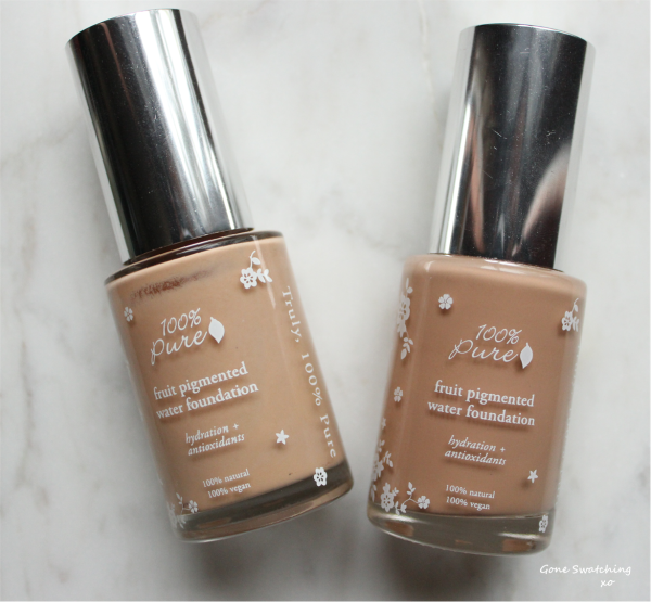 100 Pure Fruit Pigmented Water Foundation Review & Swatches