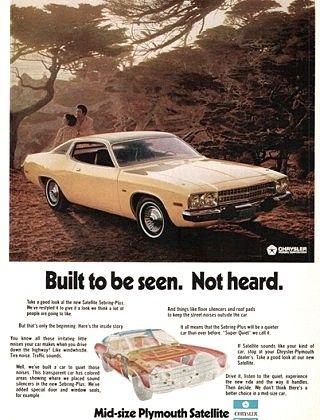 73 Satellite : satellite, Plymouth, Satellite, Automobile, Advertising,, Mopar