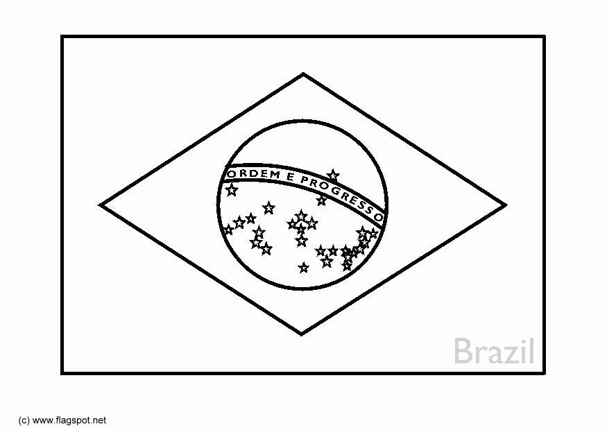 Brazil Flag Map Coloring Page Coloring Pages Flag Coloring Pages Brazil Flag Super Coloring Pages