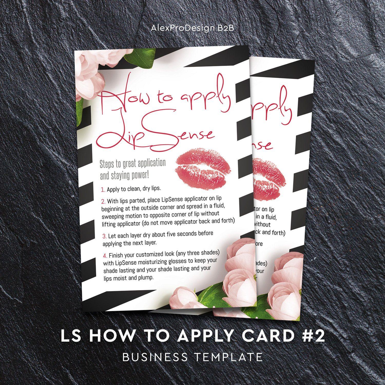 Lipsense How To Apply, Lipsense Application Card, Lipsense Senegence,  Lipsense Distributor, Instant