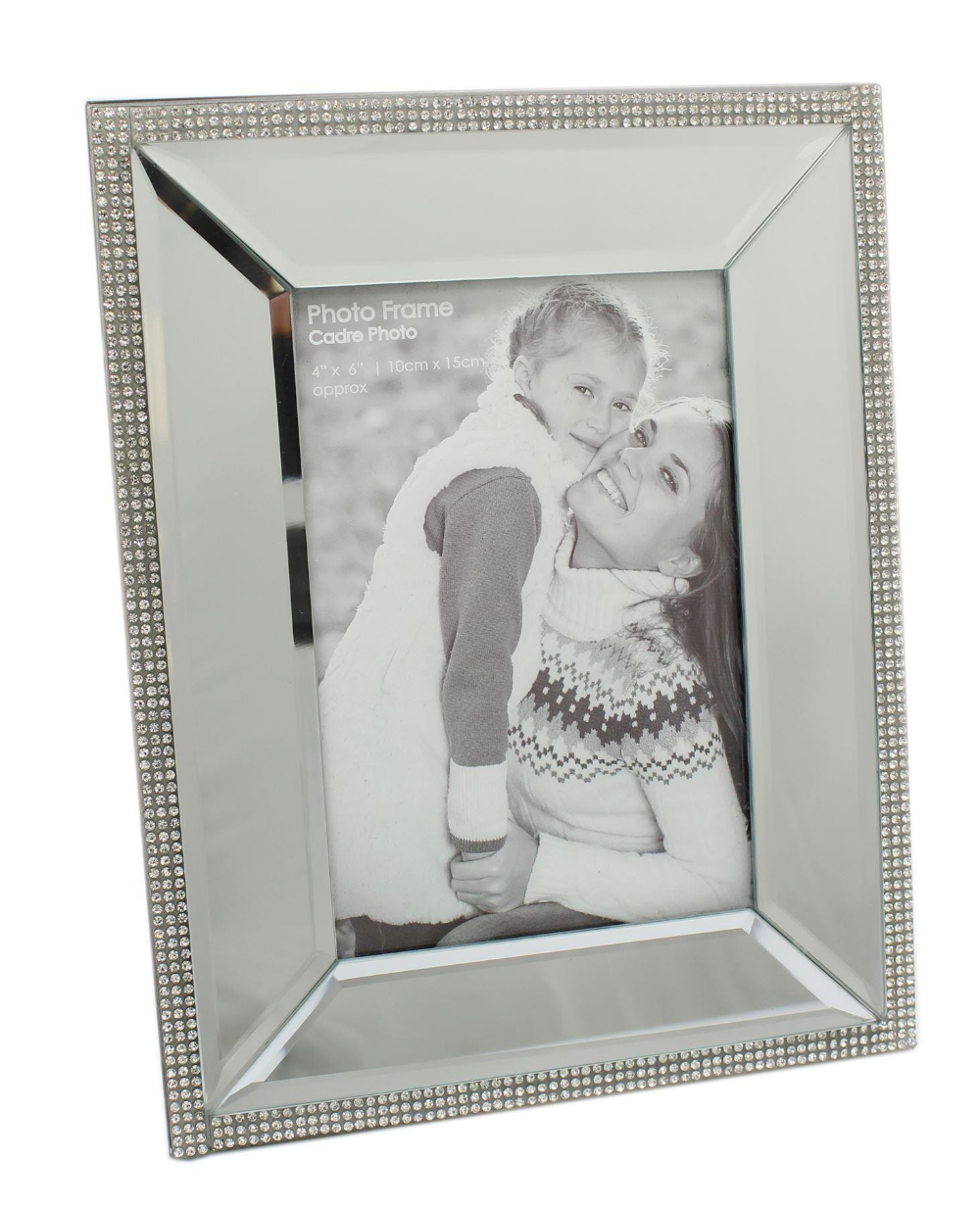 Beautiful Mirrored Diamante Photo Frame Freestanding Picture Frame Picture Frames Photo Frame Frame