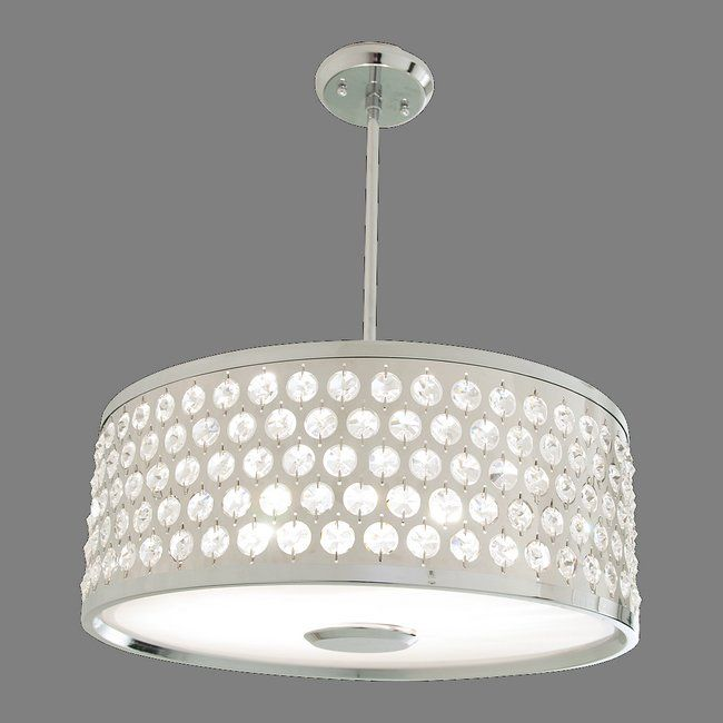 Dvi Dvp2405ch Cry 3 Light Moondust Large Pendant Chrome