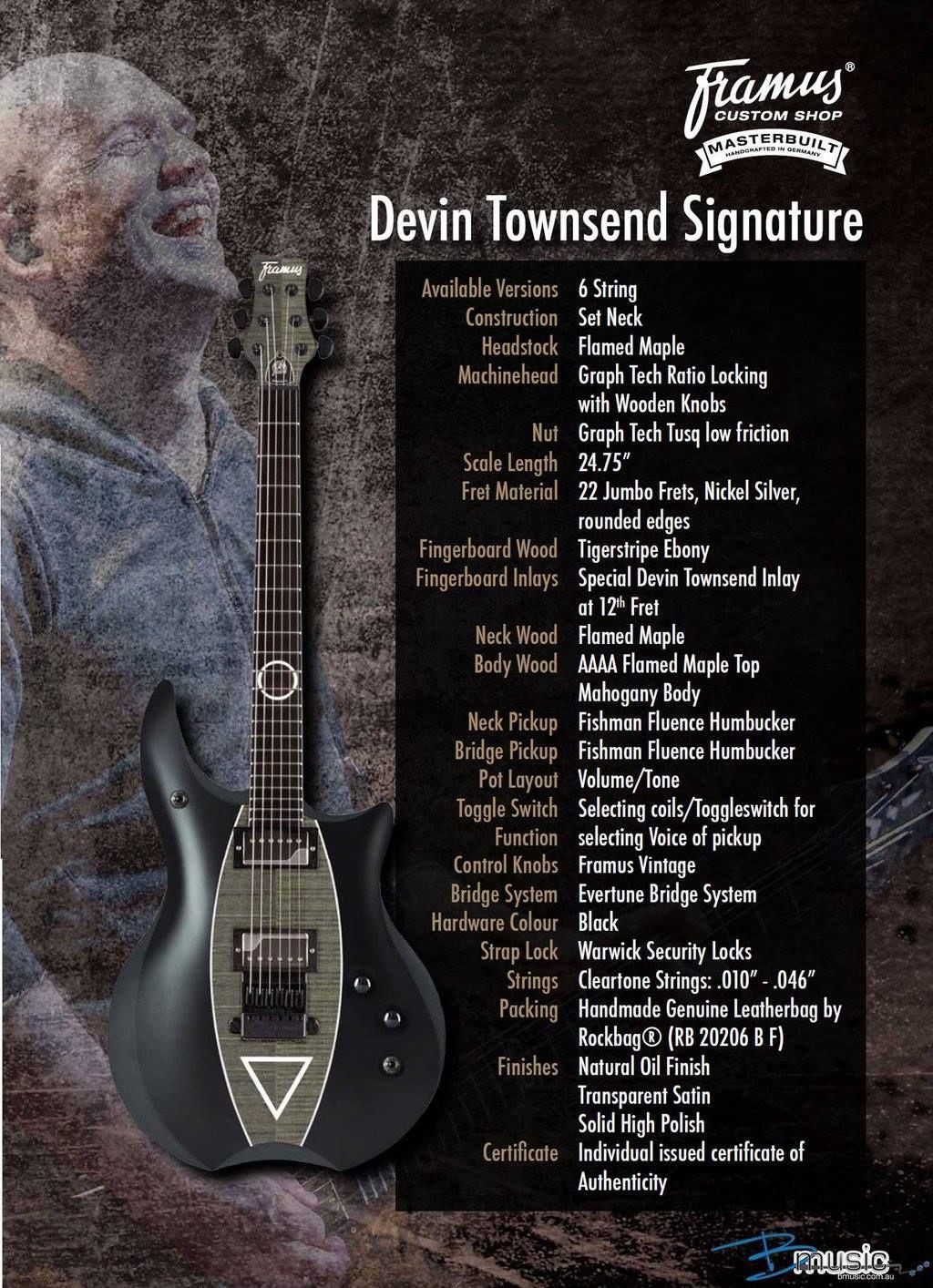 devin townsend framus signature guitars signature guitar guitar music. Black Bedroom Furniture Sets. Home Design Ideas