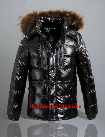 Moncler Outlet UK rod jackets for men zipper style hooded Black