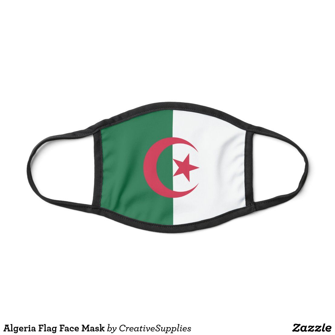 Algeria Flag Face Mask Zazzle Com In 2020 Flag Face Face Mask Algeria Flag