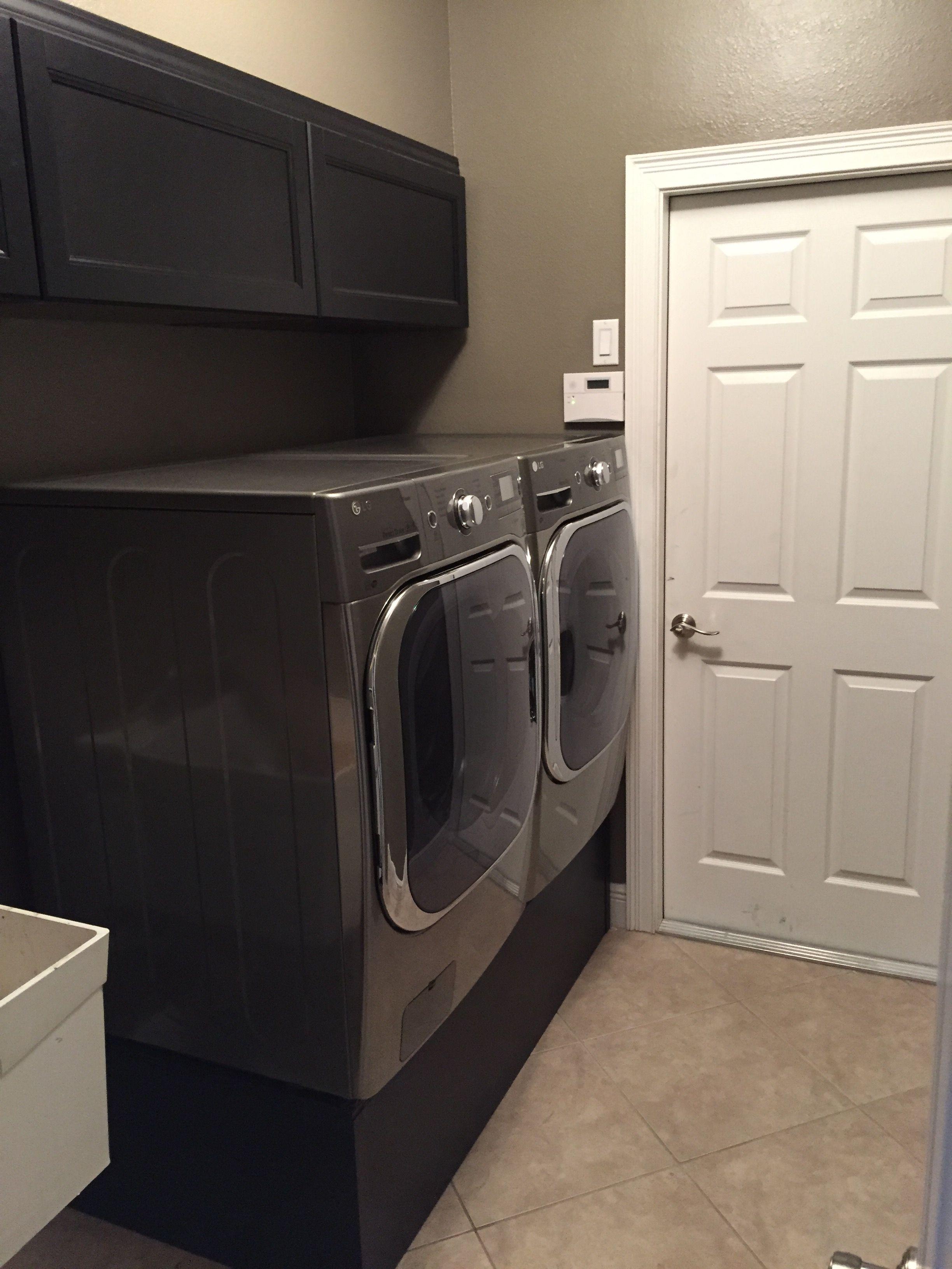 turned ikea kallax shelves into a washer/dryer pedestal | laundry