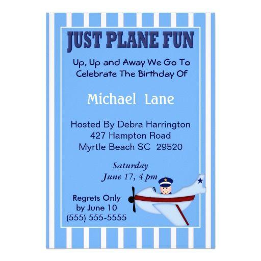 Pilot  Birthday Invitation