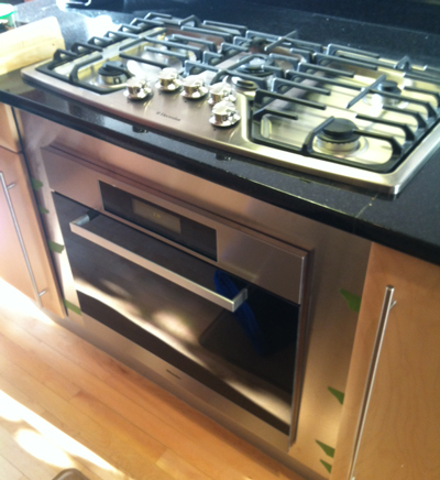 Gas Stove Top With Wall Oven Underneath.