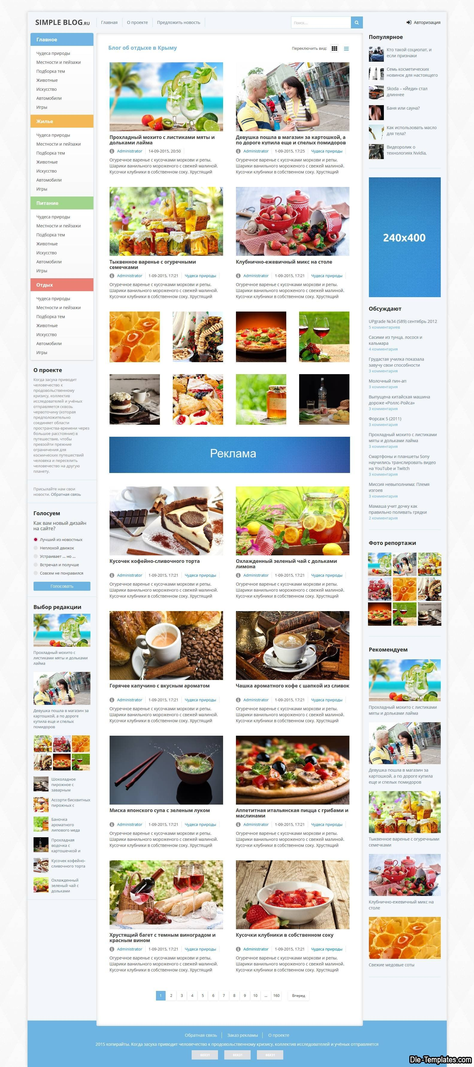 Simple Blog v2 - адаптивный блоговый шаблон для DLE