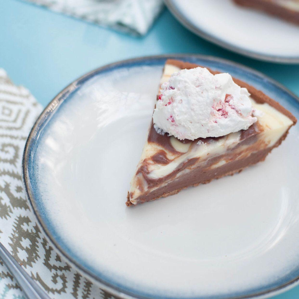 Chocolate And Vanilla Pudding Swirl Pie Recipe Food Network Recipes Vanilla Pudding Best Comfort Food