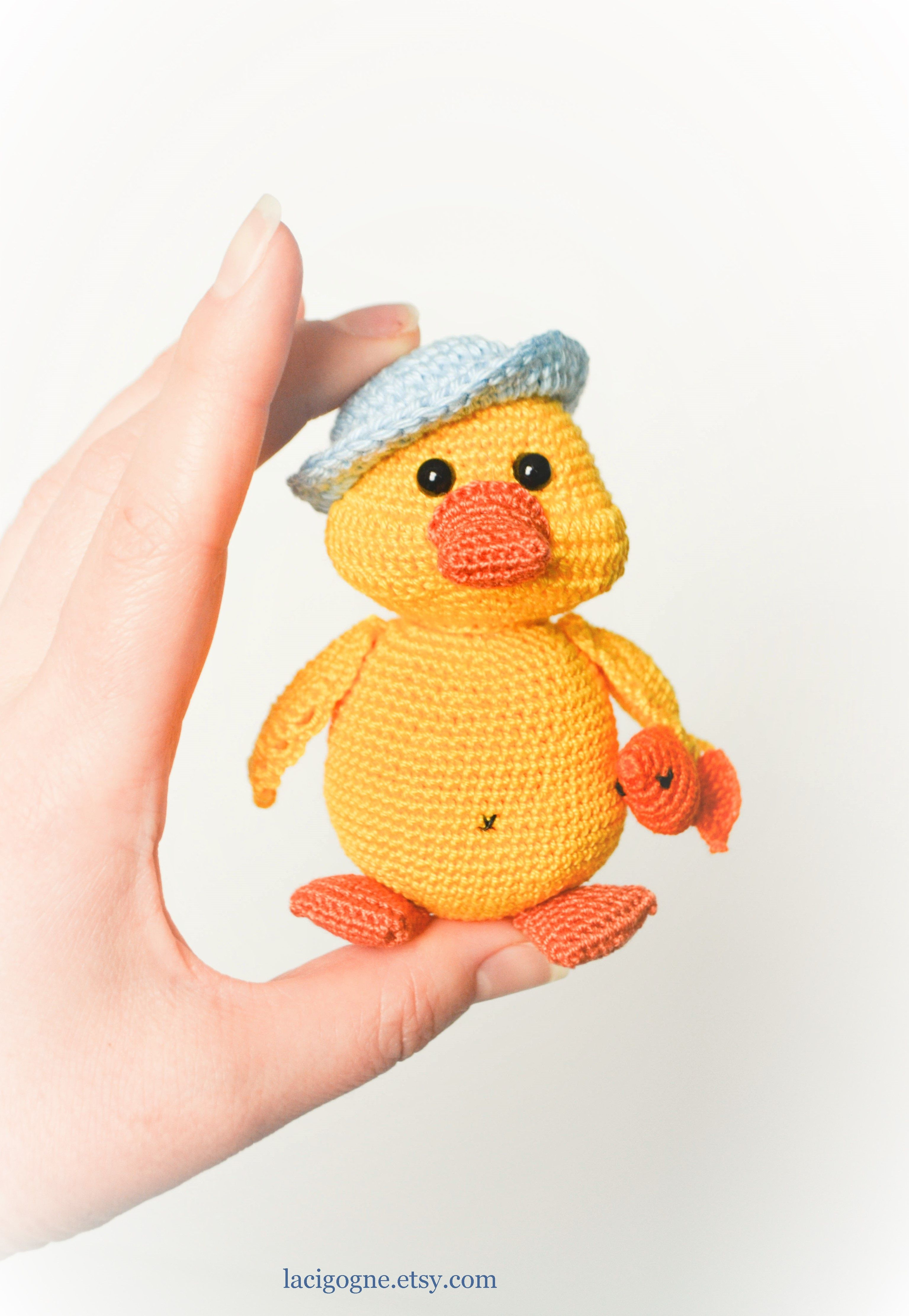 Pattern Max The Cute Duck Crochet Amigurumi Pattern Toy Duckling