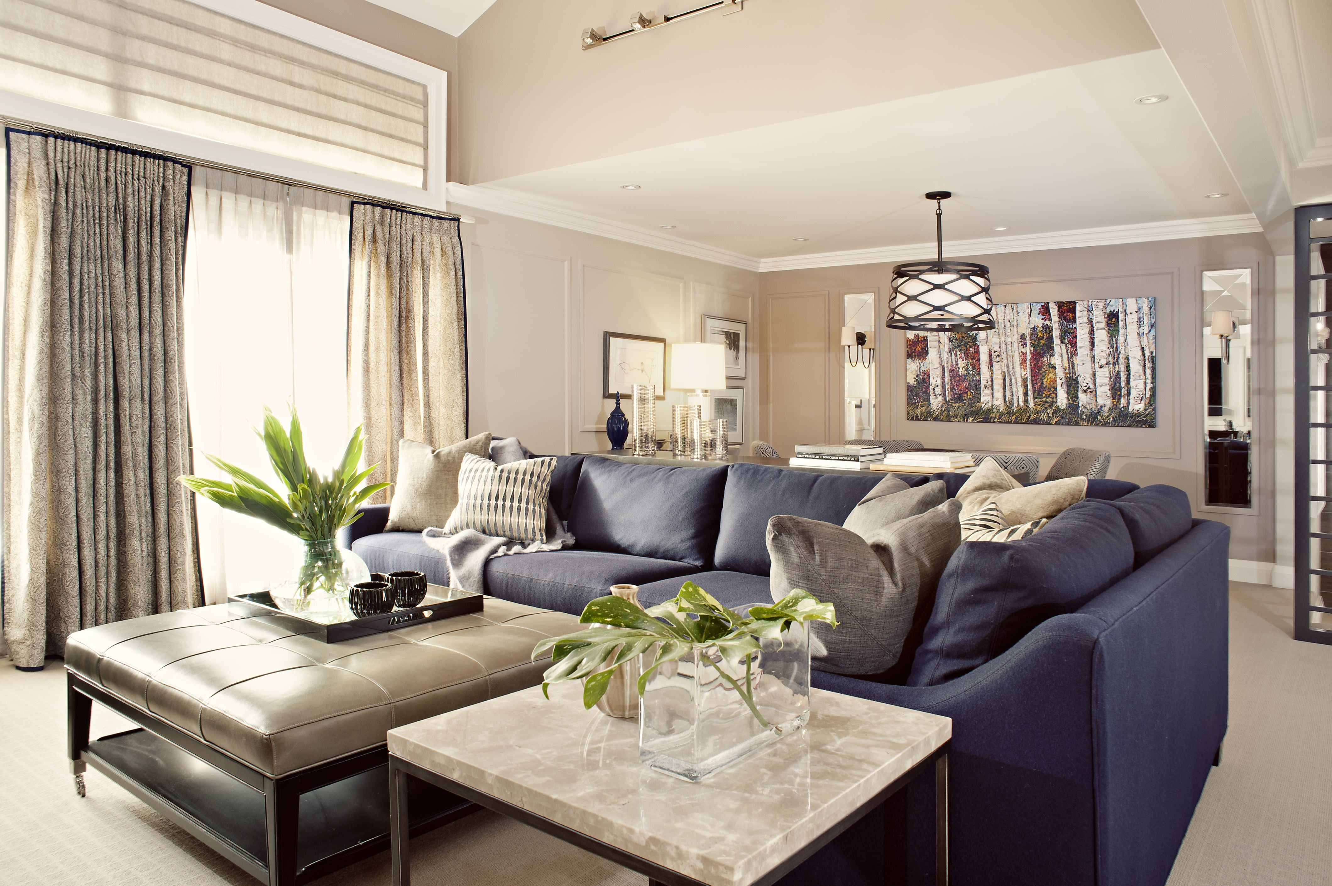 Toronto Family Room Designed By Elizabeth Metcalfe Interiors Photography By Stillmoments Ph Blue Couch Living Room Leather Sofa Living Room Blue Couch Living