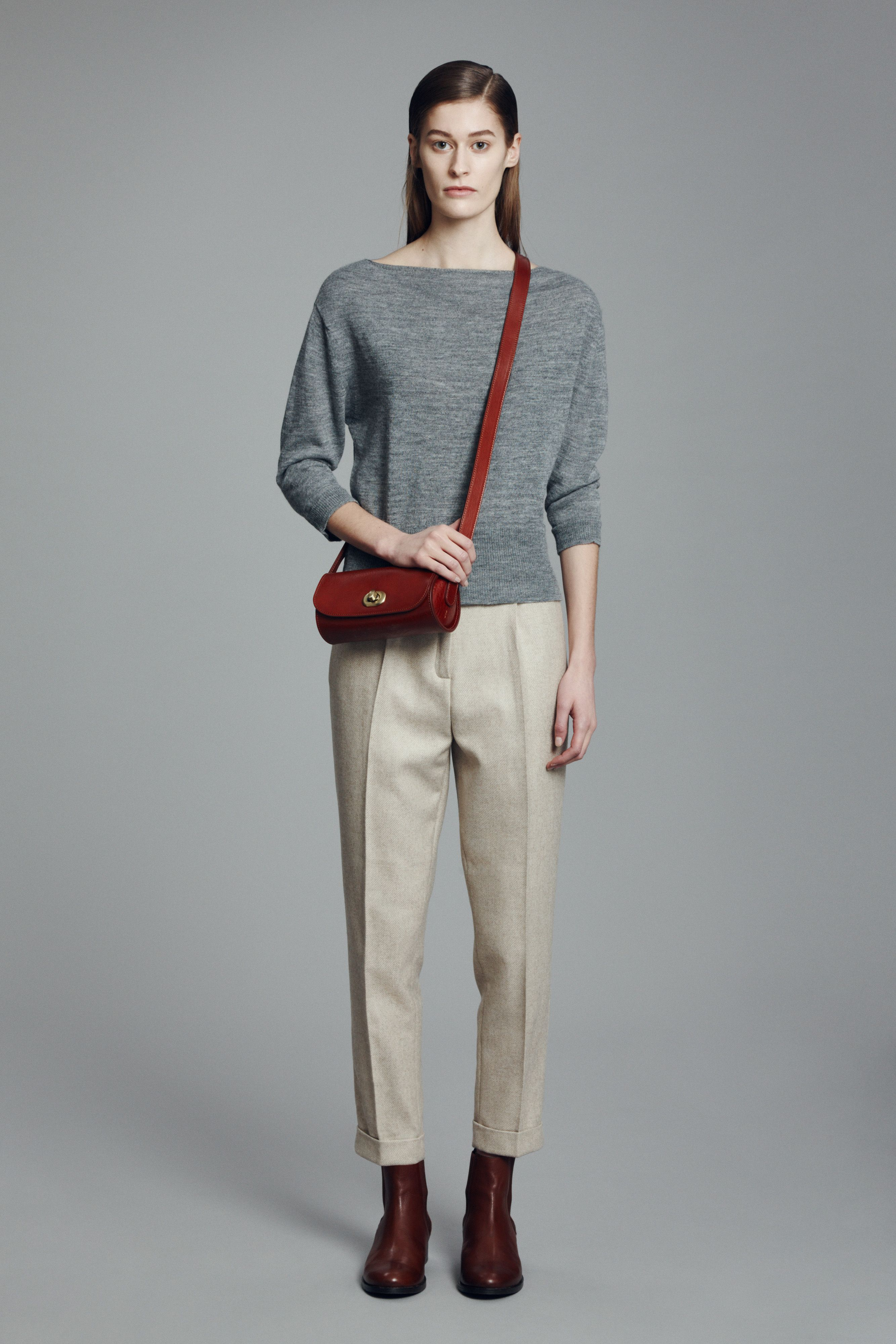 Beth Sweater, Liset Trousers, Pencil Bag and Chelsea Boot | Samuji FW15 Classic Collection