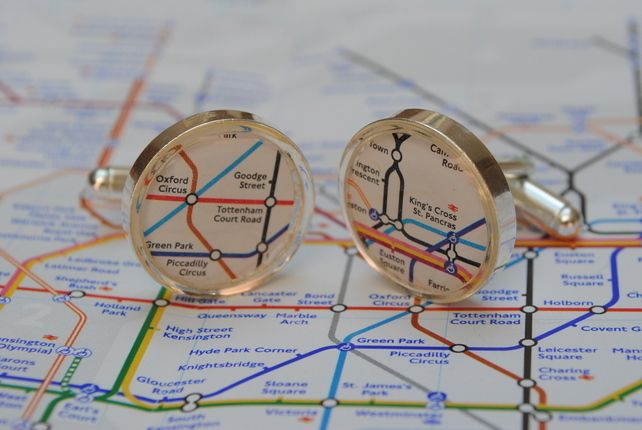 Subway Map Cufflinks.London Underground Cufflinks City Lights London Underground