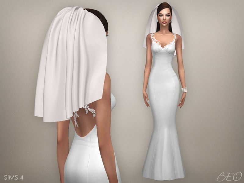 Sims 4 Wedding Veil.Wedding Veil 04 Download The Sims 4 Cc Sims 4 Wedding Dress