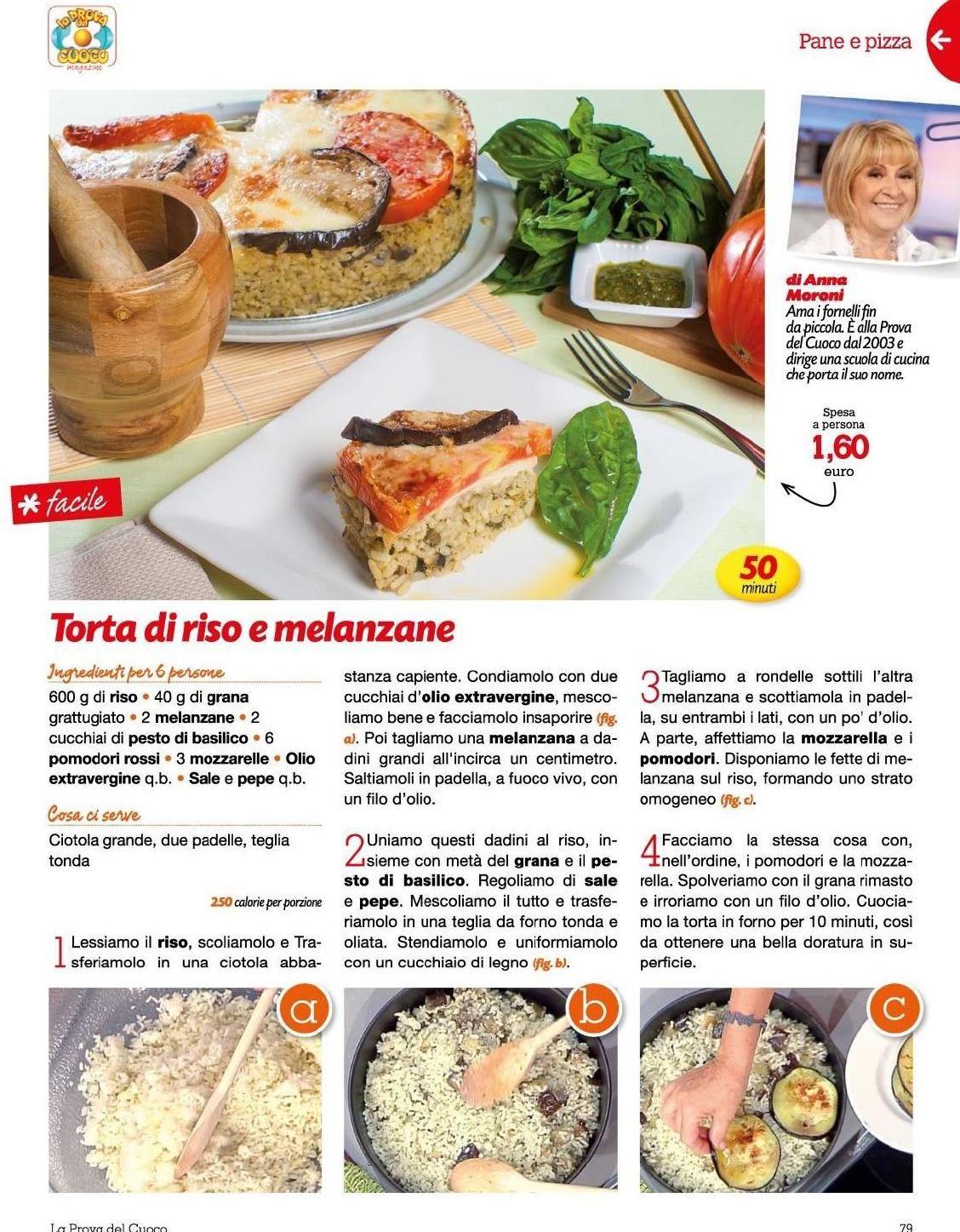 Cosa Cucinare Ad Agosto prova del cuoco 17 agosto 2015 | ricette, torte di riso e