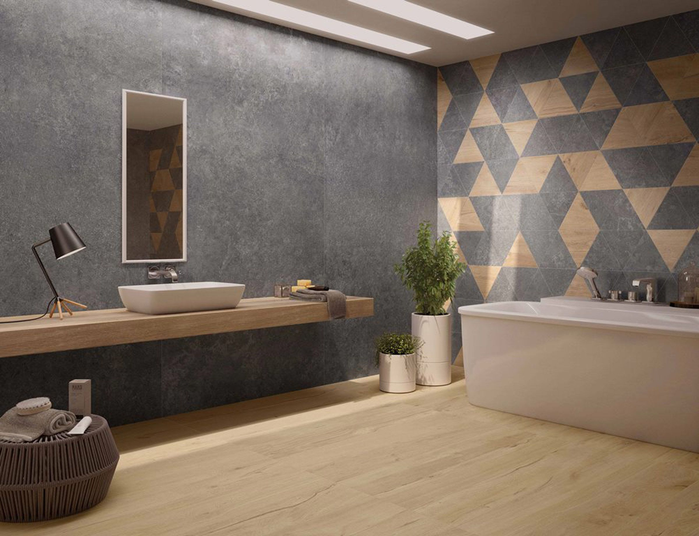 holzoptik sorgt für einen modernen style im badezimmer