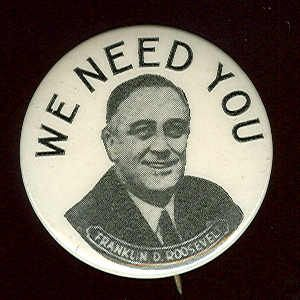 From FDR's 1944 Presidential Campaign which he went on to win with running mate Harry S