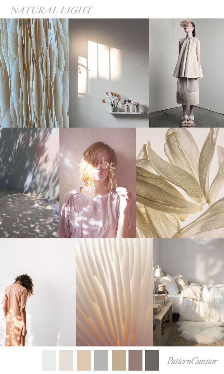 FASHION VIGNETTE: TRENDS // PATTERN CURATOR - NATURAL LIGHT . SS 2018 #moodboards