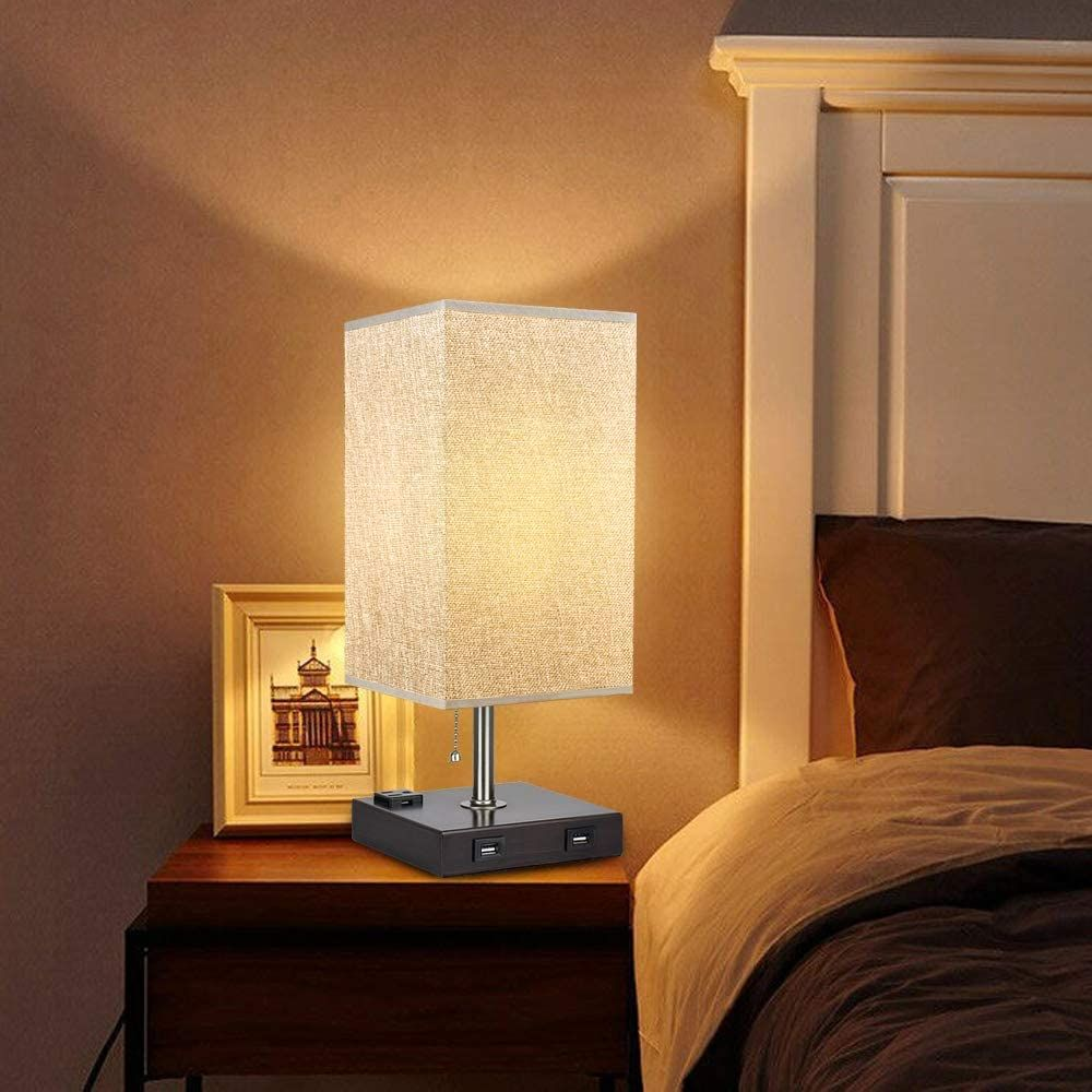 Usb Table Lamp In 2020 Lamps Living Room Table Lamp Lamp