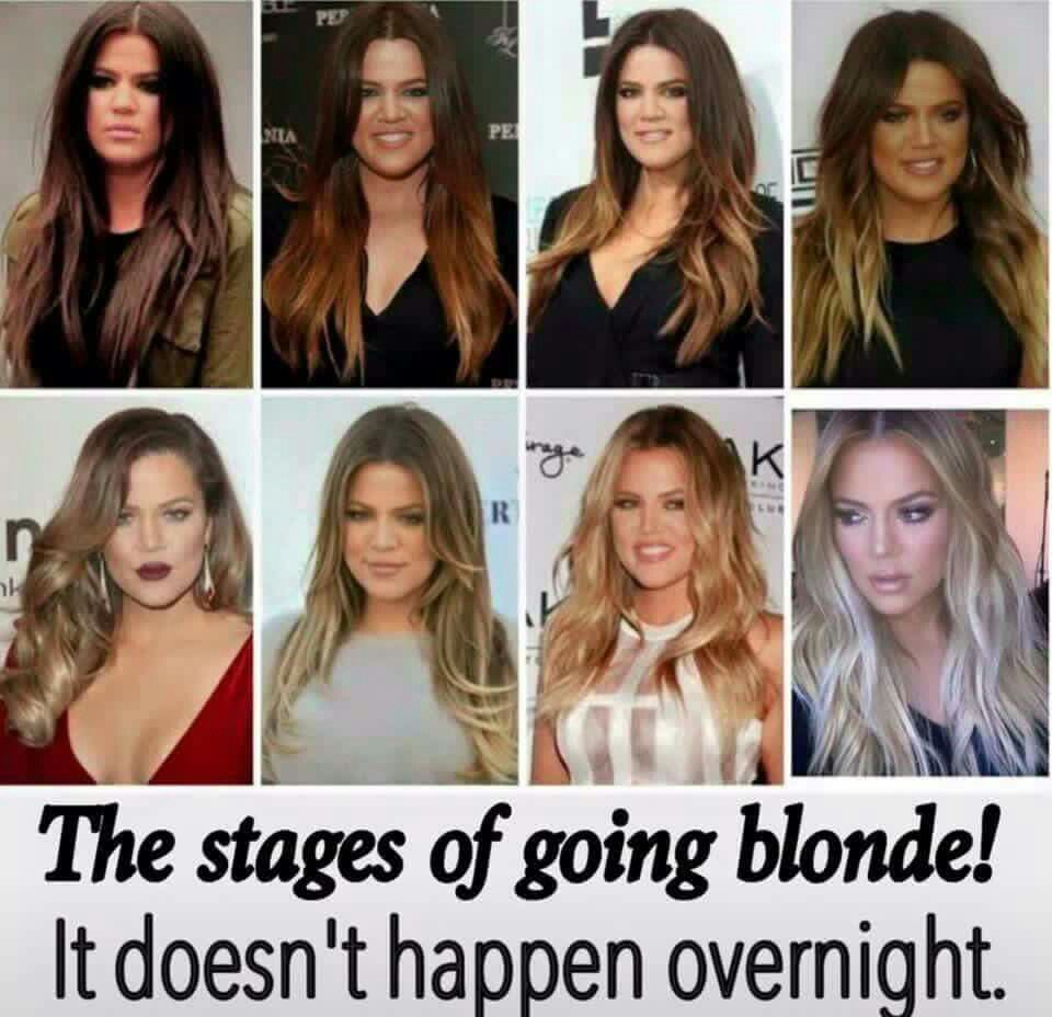 Stages Of Blonde With Images Dark To Light Hair Black To