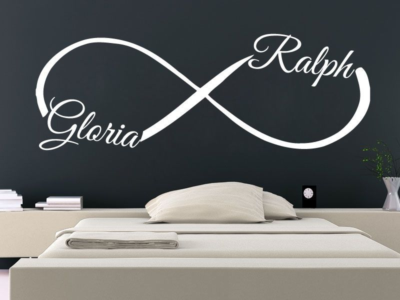 Infinity Wall Decal Custom Personalized Name Sticker Love Symbol Home Decor Sm37 Wall Decals Name Stickers Love Symbols