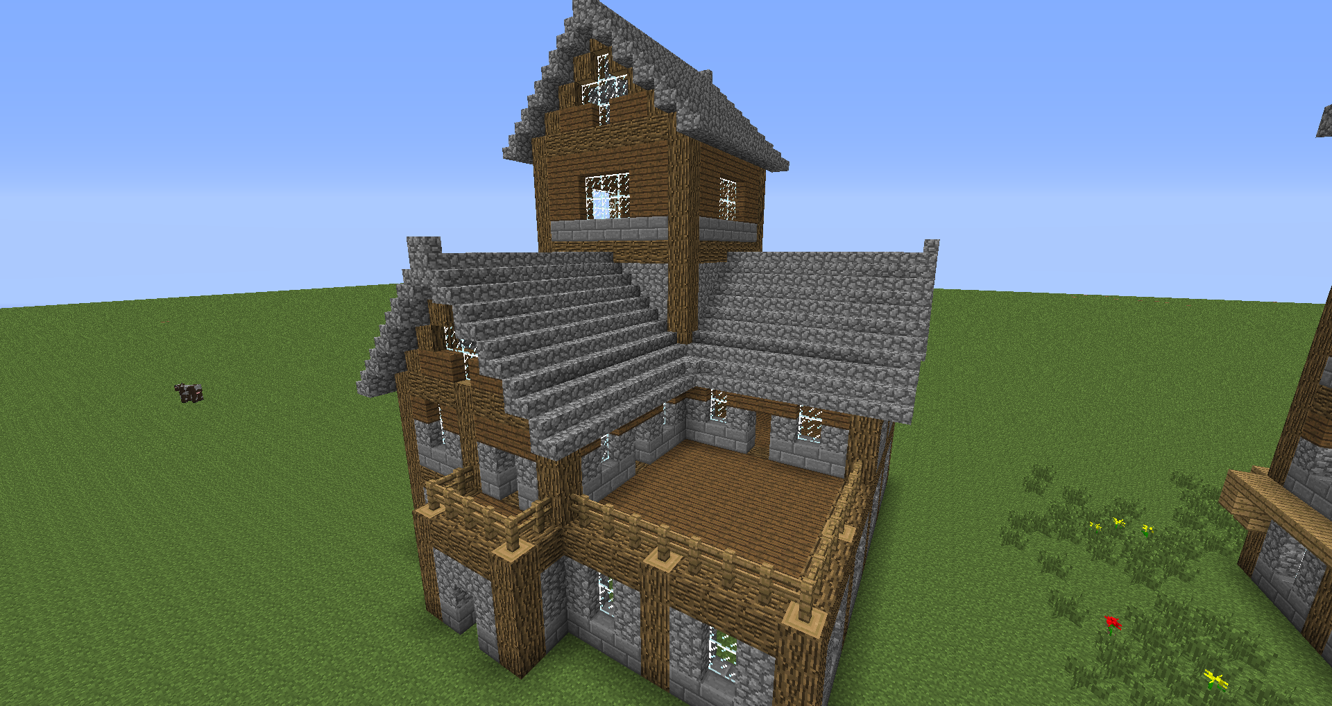 Beautiful medieval house tutorial creative mode for Classic house tutorial