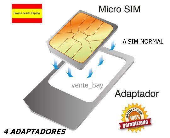 Lote 4 Adaptadores Micro Sim A Sim Normal Htc Samsung Galaxy S3