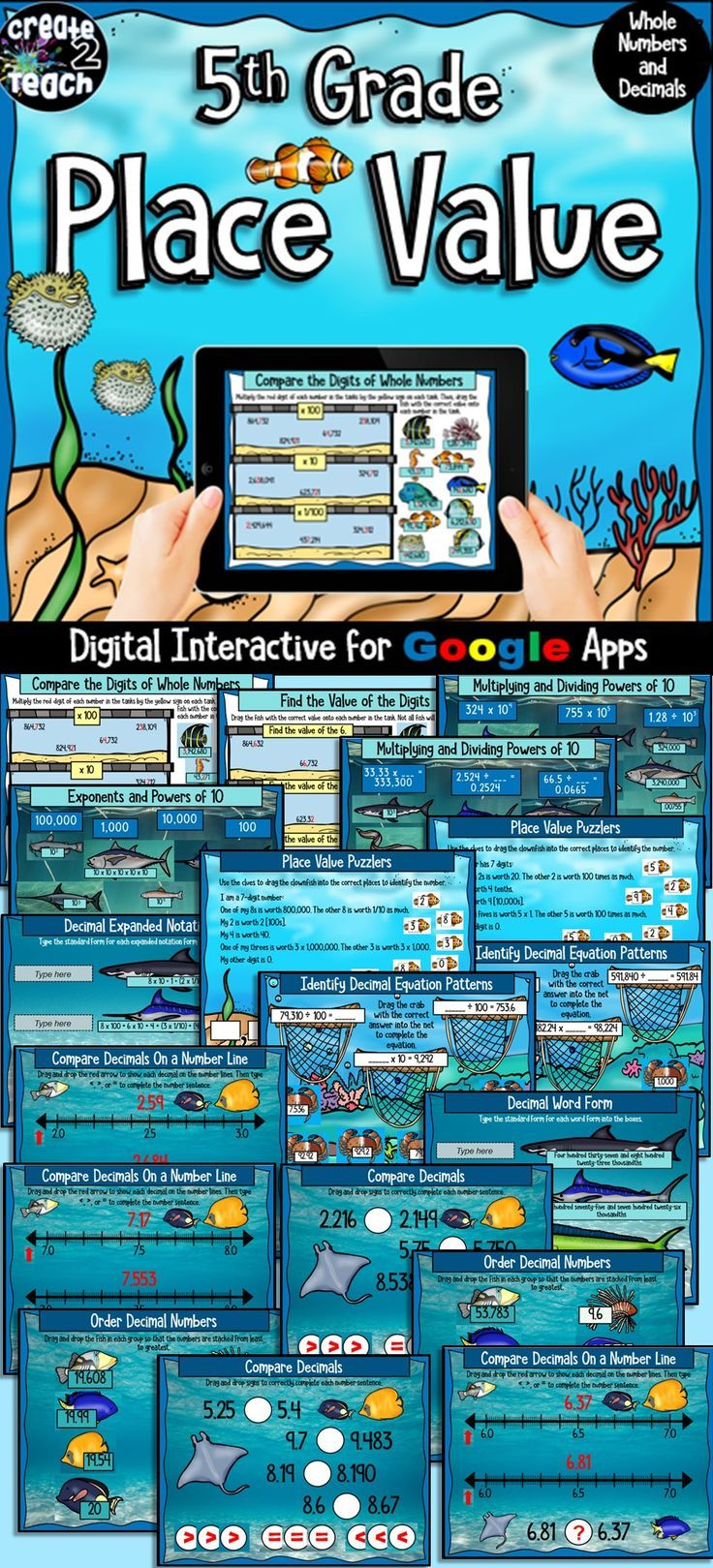 5th Grade Place Value Digital Interactive for Google Apps | Expanded ...