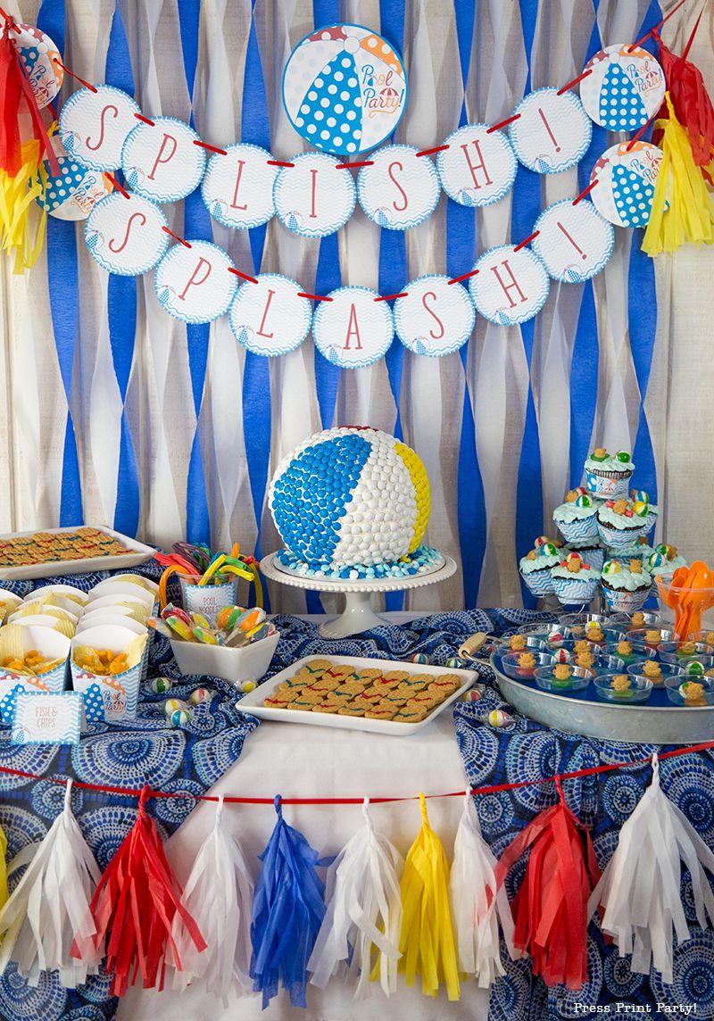 Beach Ball Pool Party Birthday Bash Pool Birthday Party Pool