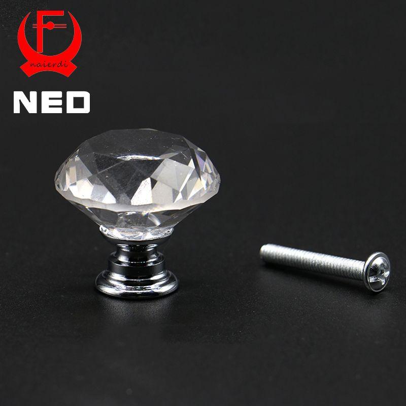 Kak 20-40mm diamant form design kristall glas knöpfe schrank - schubladen für küchenschränke