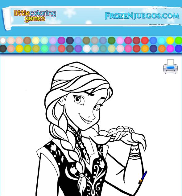 Colorea a está hermosa princesa Anna en: http://www.frozenjuegos.com ...
