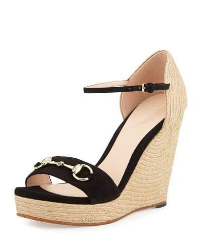 744ba1a87ca Gucci kid suede espadrille d Orsay sandal. 4.8