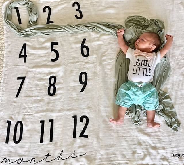 Monthly Milestone Blanket Littlefacesapparel New Baby Products Baby Boy Outfits Baby Toddler Clothing