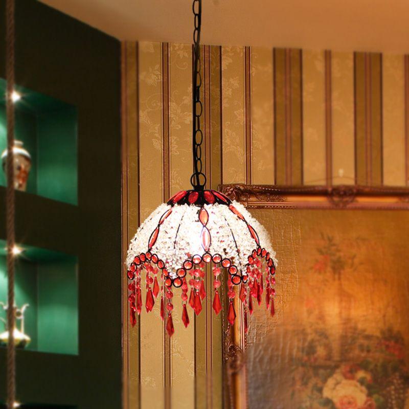 Romantic Iron Beads Dining Room Pendant Lamp European Balcony Pendant Lamp Hallway Pendant Lamp -2