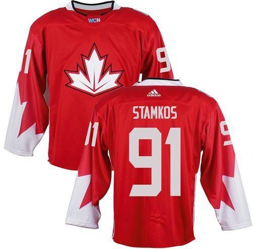Team Ca 91 Steven Stamkos Red 2016 World Cup Stitched Nhl Jersey Nhl Jerseys Hockey World Cup Ice Hockey Jersey