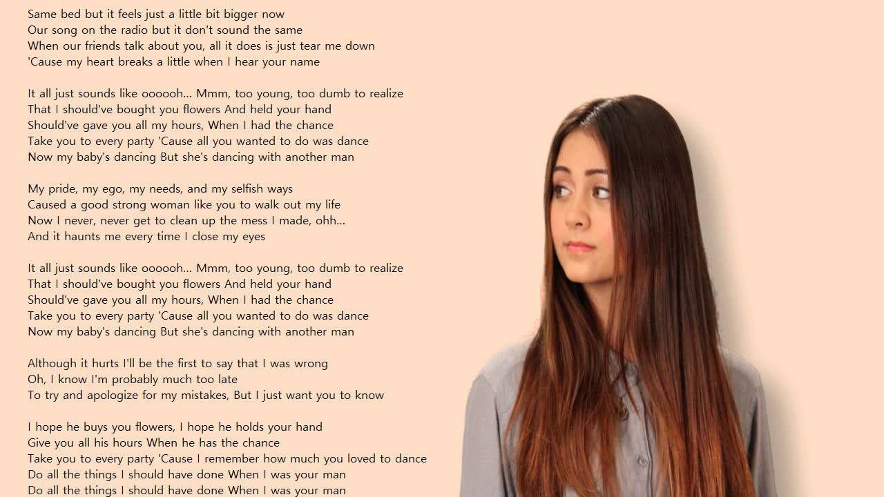 Jasmine Thompson When I Was Your Man Lyrics Jasmine Thompson Lyrics Music Covers